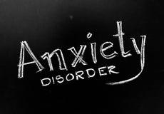 Anxiety Disorder Handwritten on Blackboard. As JPG File royalty free stock photo