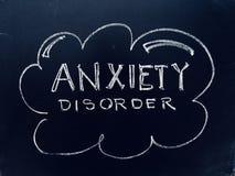 Anxiety Disorder Handwritten on Blackboard. As JPG File stock image