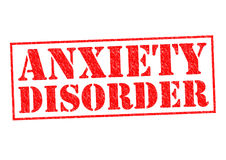 ANXIETY DISORDER. Red Rubber Stamp over a white background Stock Photography