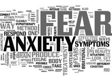 Anxiety Ends With Usword Cloud. ANXIETY ENDS WITH US TEXT WORD CLOUD CONCEPT Royalty Free Stock Images