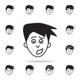 anxiety on the face icon. Detailed set of facial emotions icons. Premium graphic design. One of the collection icons for websites stock illustration