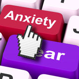 Anxiety Fear Keys Mouse Means Anxious And Afraid Stock Photos