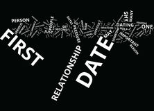 The Anxiety Of The First Date Text Background  Word Cloud Concept. THE ANXIETY OF THE FIRST DATE Text Background Word Cloud Concept Stock Photos