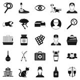 Anxiety icons set, simple style Stock Photos