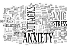 Anxiety Panic Attack Word Cloud Royalty Free Stock Image