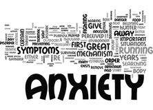 Anxiety Rise From The Grave Word Cloud Stock Photography