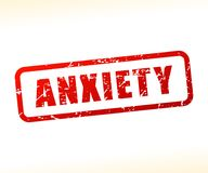 Anxiety text buffered vector illustration
