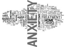 Anxiety What Has Anxiety And Maggots Got In Common Word Cloud Royalty Free Stock Photos