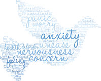 Anxiety Word Cloud. On a white background Stock Image