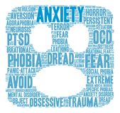 Anxiety Word Cloud Royalty Free Stock Photo