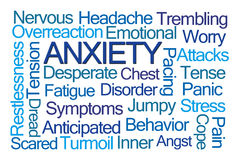 Anxiety Word Cloud Royalty Free Stock Images