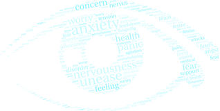 Anxiety Word Cloud Stock Image