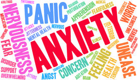 Anxiety Word Cloud Royalty Free Stock Photos