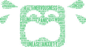 Anxiety Word Cloud Stock Photos
