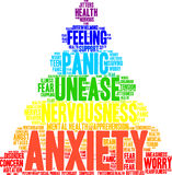 Anxiety Word Cloud Royalty Free Stock Photography