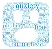 Anxiety Word Cloud. On a white background vector illustration