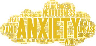 Anxiety Word Cloud. On a white background Stock Photography