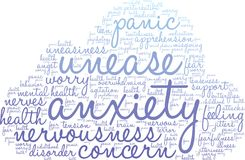Anxiety Word Cloud. On a white background Stock Images