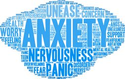 Anxiety Word Cloud. On a white background Royalty Free Stock Images