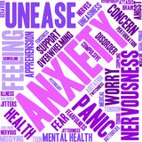 Anxiety Word Cloud. On a white background Stock Photo