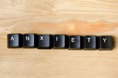 Anxiety word. With keyboard button Royalty Free Stock Photo