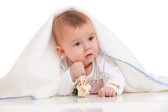 Anxious baby stock photo