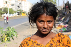 Anxious Beggar Teenager royalty free stock photos