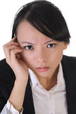 Anxious business woma Royalty Free Stock Photos