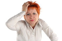 Anxious Business Woman Stock Image