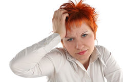 Anxious business woman Stock Images