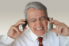 Anxious businessman. Stressed mature businessman Stock Images