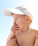 Anxious Child outdoor Royalty Free Stock Photo