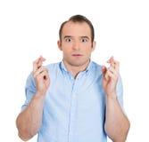 Anxious man Stock Photography