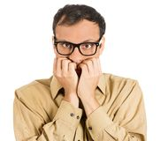 Anxious man Royalty Free Stock Photography