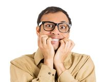 Anxious man Royalty Free Stock Images