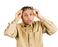 Anxious man Royalty Free Stock Image