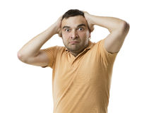 Anxious man Royalty Free Stock Photo