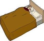 Anxious Man Unable to Sleep Stock Photo