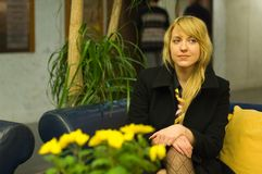 Anxious Professional Woman - 2 Royalty Free Stock Photo