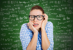 Anxious student Stock Images