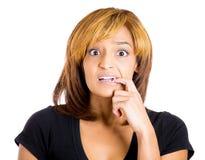 Anxious woman Royalty Free Stock Image