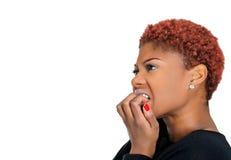 Anxious woman Stock Photo