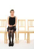 Anxious young lady waiting royalty free stock photography