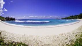Anyżowa coco plaża, Seychelles Zdjęcie Stock
