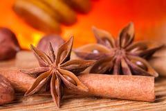 anyżu korowata cynamonowa miodowa słoju gwiazda obraz stock