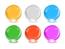 Any color glass balls set. EPS10 Stock Images