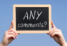 Any comments Royalty Free Stock Images