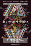Any event exhibition poster template design Stock Photo