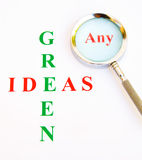 Any green ideas ? Royalty Free Stock Photography