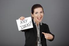 Any Ideas??? Royalty Free Stock Photography